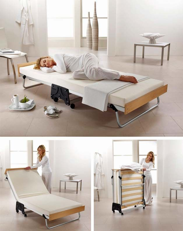 53 best wall beds hidden beds images on pinterest for Foldable furniture for small spaces