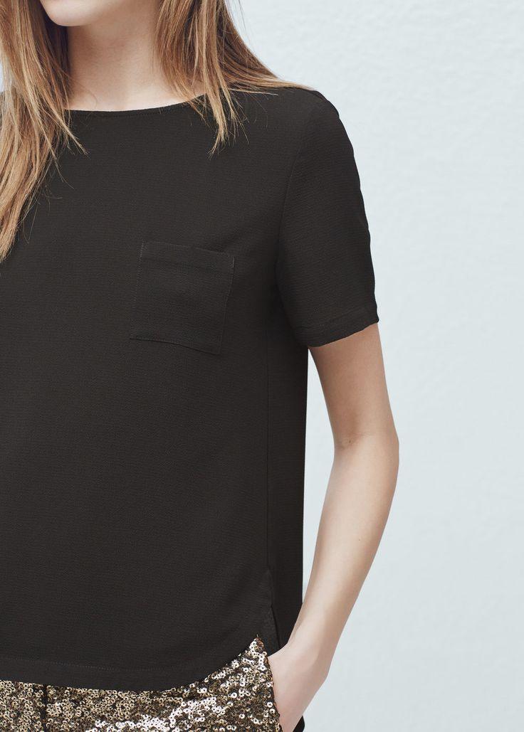 Patch pocket blouse - Shirts for Women | MANGO USA
