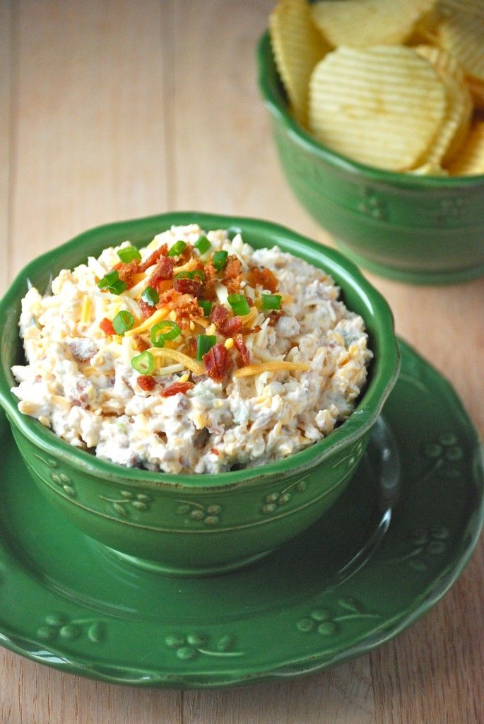 Ranch loaded baked potato dip.I'm making this tonight and while it still needs its fridge time, the taste is awesome!