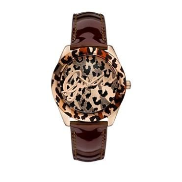 Ladies Temptress Animal With Brown Leather Watch. http://www.sterns.co.za
