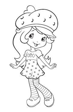 830 best coloring pages images on pinterest coloring for Strawberry shortcake characters coloring pages