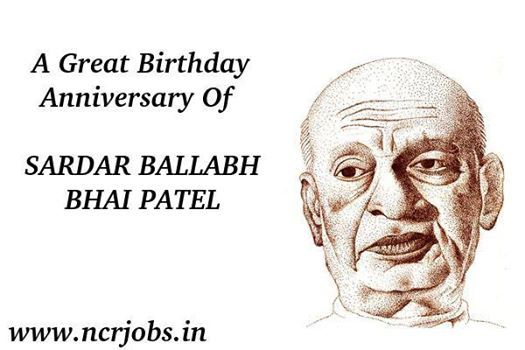 Celebrating #Happy_Sardar_Ballabh_Bhai_Patel_Jayanti  means peace, it is a #festival which teach us,  how to make a complete country,  without using any army ,riffles,pistol etc...  www.ncrjobs.in