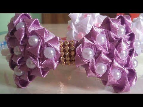 Tiara com fita de cetim de 22mm.lindíssimo! - YouTube