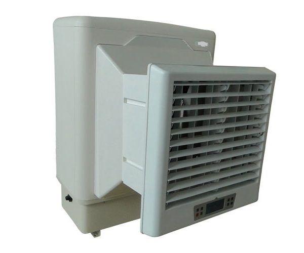 Buy Window #EvaporativeAirCooler system model EVA60H-WN1PR with horizontal & left-right swing facility from #Evapoler in India.  http://www.evapoler.com/product/window-evaporative-air-cooler-eva60h-wn1pr/