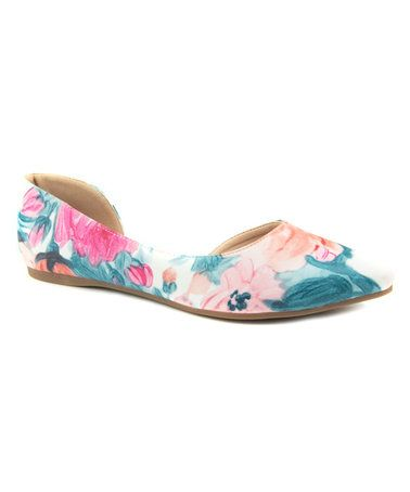 Look what I found on #zulily! Teal D'Orsay Chaser Flat #zulilyfinds