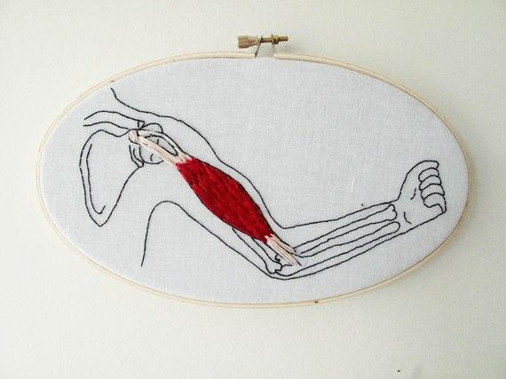 Bicep Arm Muscle Embroidery
