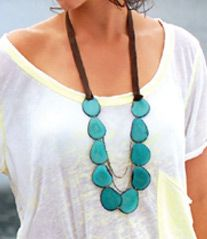 """Funny how a necklace can totally rock what was simply a """"simple"""" outfit!"""