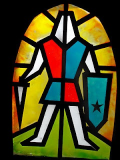 Simple Stained Glass Knights - Like these for windows