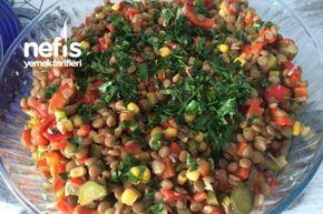 Yeşil Mercimekli Gün Salatası Tarifi
