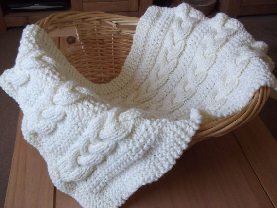 Knitting pattern- Braided Cable Baby Blanket / Basket stuffer / Lap B?