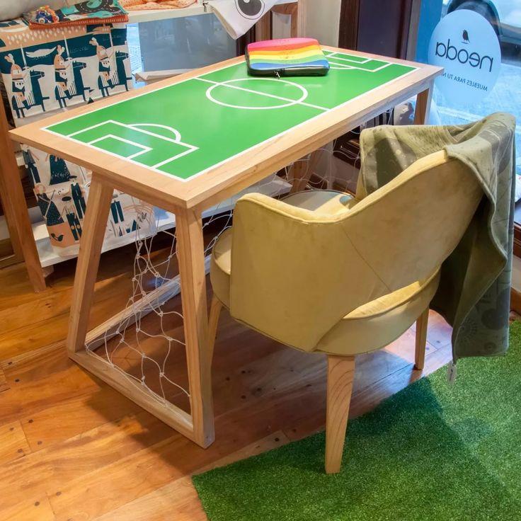 escritorio arco de futbol de madera paraiso natural