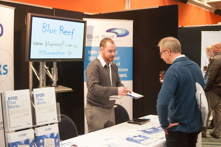 Blue Reef stand in exhibition area