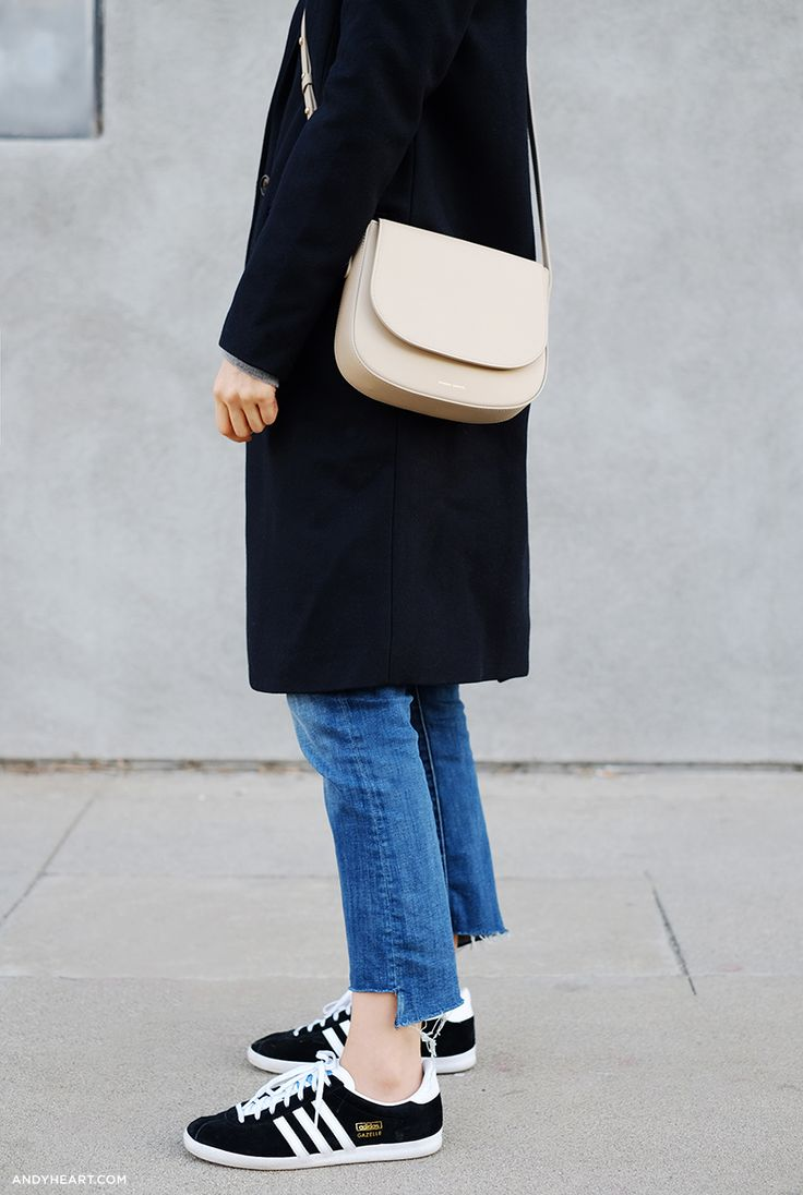ZADY Coat and Sweater / MOTHER Jeans (More here and here) / MANSUR GAVRIEL Bag (more here) / GENTLE MONSTER (Similar here and here) / ADIDAS Sneakers