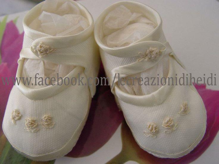 shoes,scarpette battesimo,обувь,ricamo, fatto a mano,https://www.facebook.com/lecreazionidiheidi?ref=stream