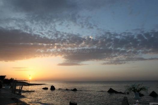 Panorama al tramonto per un #matrimonio in #spiaggia