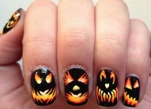 I am unfolding before you 20 + Halloween pumpkin nail art designs, ideas,  trends & stickers of I hope you have a great fun time on October Have a - 69 Best Halloween Pumpkin Nail Art Images On Pinterest Halloween