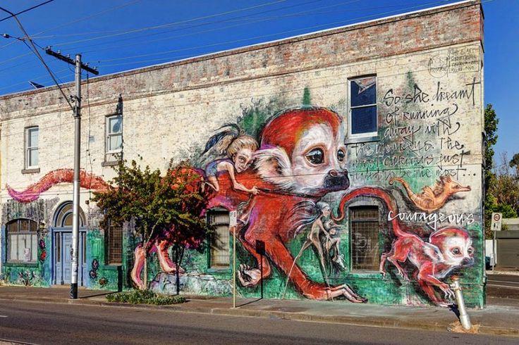 Seni Jalanan Lukisan Mural di Kota Melbourne di Australia 1