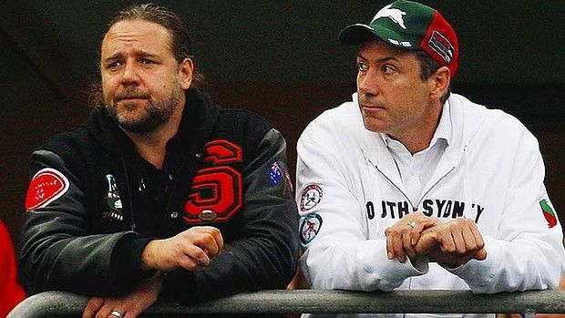 russell crowe rugby | Russell Crowe and Peter Holmes a Court Rugby League