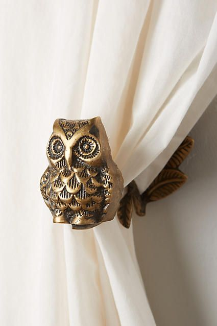 Wise Owl Tieback - anthropologie.com