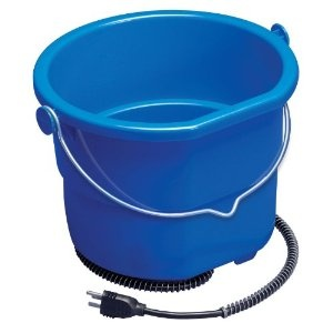 Heated Flat Back Bucket for Horses and Large Dogs