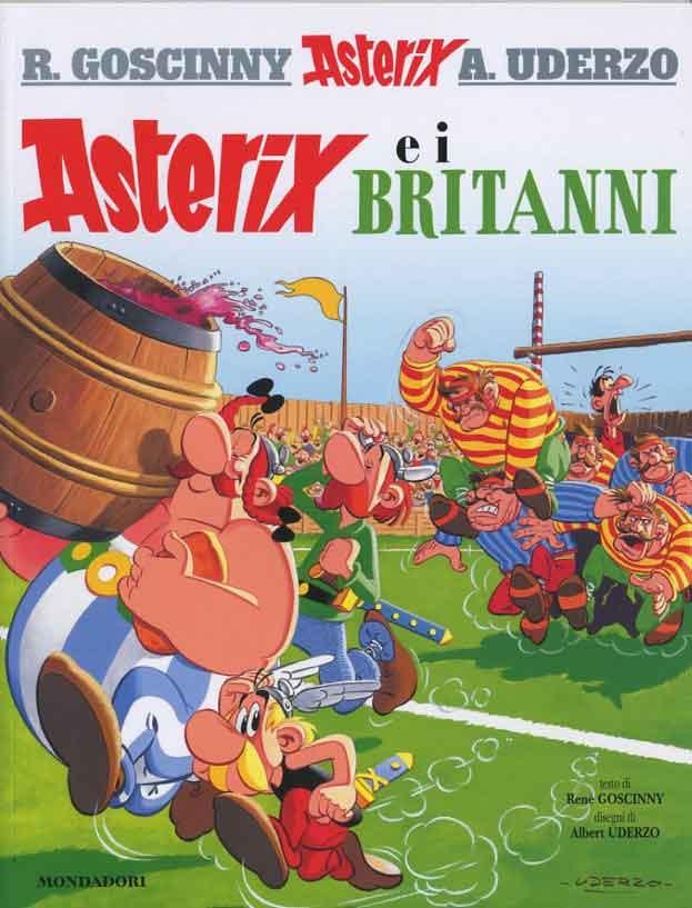 Asterix e i Britanni, Renè Goscinny & Albert Uderzo: In seguito alla conquista romana della Britannia Asterix ed Obelix intraprendono un avventuroso viaggio per soccorrere l'amico Beltorax e consegnargli una botte della bevanda magica che rende invincibili, preparata dal druido Panoramix. I due scopriranno le nebbie improvvise, la temuta Torre di Londra e le stravaganti abitudini inglesi.