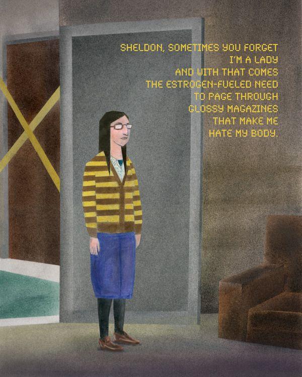 Girls Fact Fiction Amy Farrah Fowler by Sebastian König <--Sharing for the giggles.
