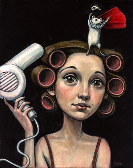 """A gorgeous and whimsical representation of Jenny """"The Bloggess"""" Lawson by artist Kelly Vivanco.  #art"""