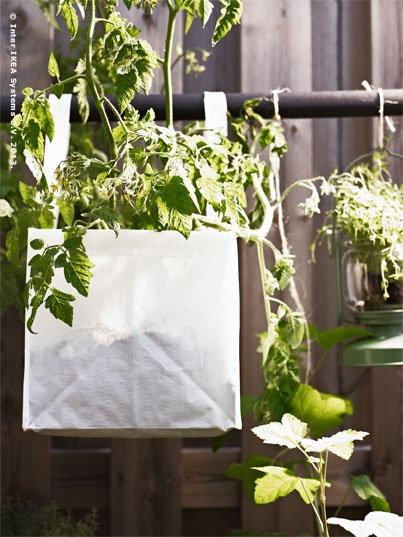 Woven plastic bags like DIMPA are suitable for use outdoors, durable and portable, too.