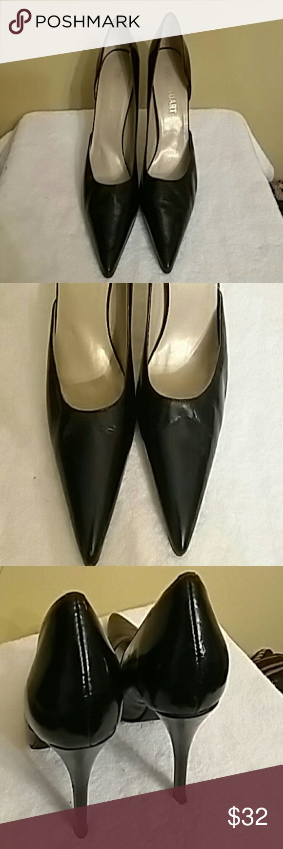 Colin Stuart shoes Colin Stuart patent leather pumps with opening on the side. Very nice shoe great condition,  normal wear and tear! Colin Stuart Shoes Heels