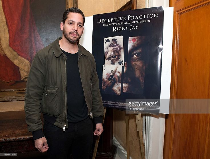 David Blaine attends the 'Deceptive Practice: The Mysteries And Mentors of Ricky Jay' screening at The Players Club on April 15, 2013 in New York City.