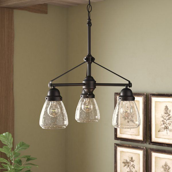 Harborcreek 3 Light Shaded Chandelier Dining Light Fixtures