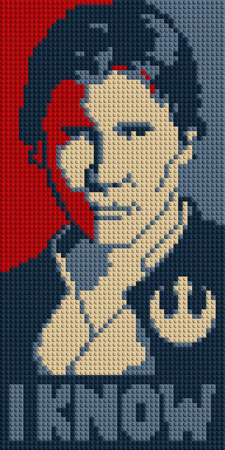 "Han Solo ""I Know"" LEGO® Mosaic - 15 in x 30 in by CreativeSquareStudio on Etsy https://www.etsy.com/listing/232620736/han-solo-i-know-lego-mosaic-15-in-x-30"