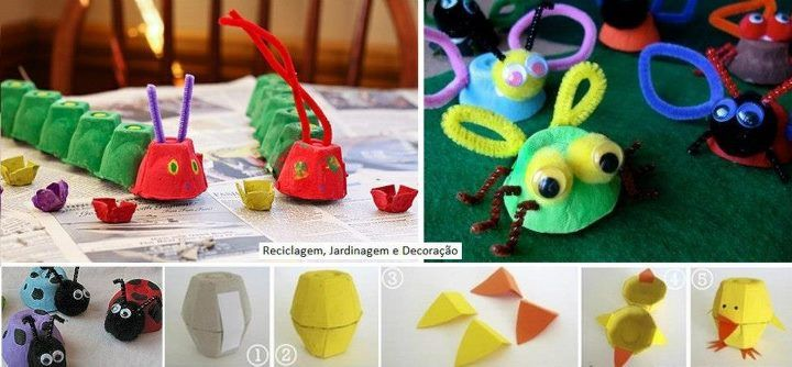 Animales con caja de huevos craft ideas pinterest - Caja de huevo ...