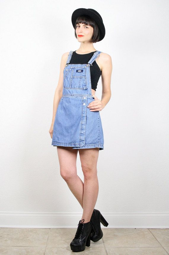 Vintage 90s Overalls Grunge Overalls Dress by ShopTwitchVintage