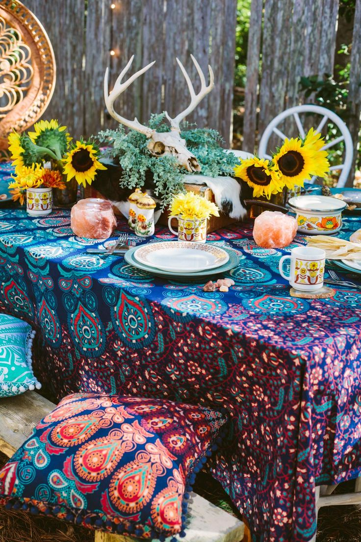 Bohemian Style Decorating Ideas: Bohemian Thanksgiving