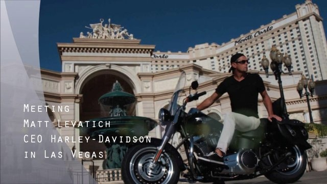 The Route 66 on a Harley, meeting Bob Jeffrey in New York and Matt Levatich in Las Vegas... Around the World in 80 Brands!