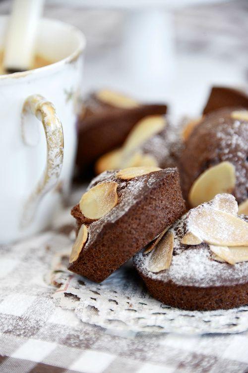 Petits cakes choco-amande