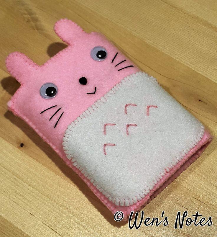 Pink Totoro Power Bank Pocket | Wen's Notes
