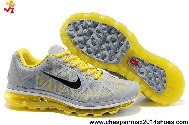 Cheap Discount 429889-517 Nike Air Max 2011 Grey Yellow Black Mens Sports  Shoes Store