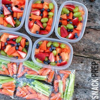Prep lots of healthy snacks so you'll never go hangry. | 21 Easy Things To Do On Sunday That Will Make Mondays Suck Less