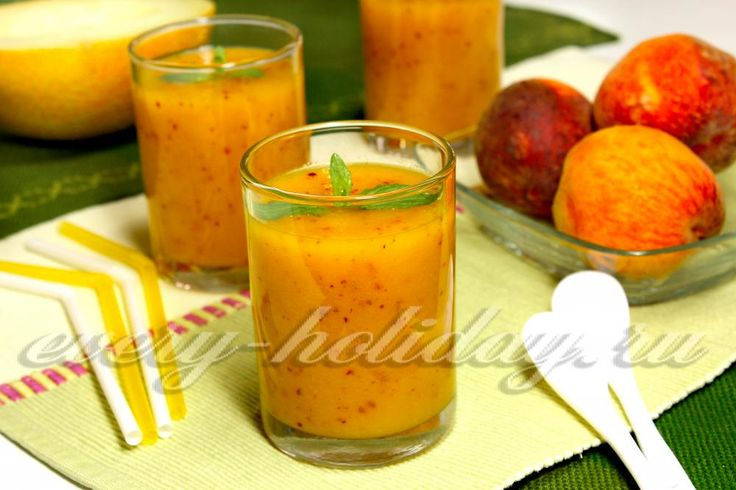 Смузи из дыни и персика