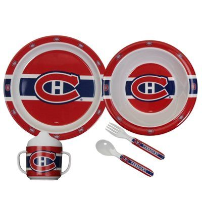Montreal Canadiens 5-Piece First Time Fan Baby Dinner Set