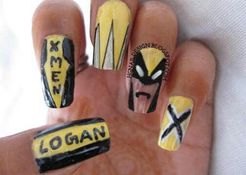 Wolverine Nail Art (X Men)