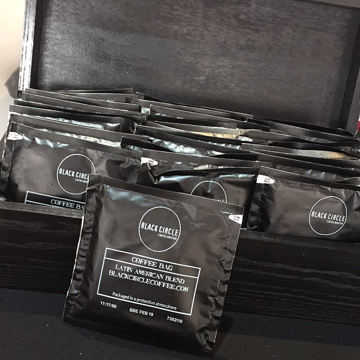 Our new coffee bags with fresh roasted Latin blended beans exclusively served today at #ovotob #tourofbritain VIP hospitality