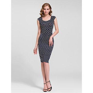 Sheath/Column Scoop Knee-length Semi - Formal Dress – USD $ 19.99