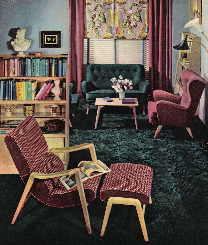 Old style, Cushioned, Lounge furniture, G-plan, 1955 Furniture, interior product history