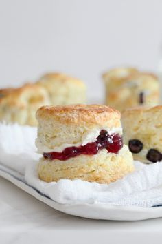 meyer lemon and blueberry cream scones