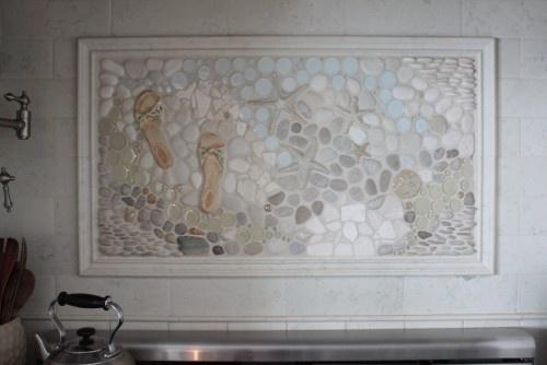 a beautiful custom mosaic kitchen backsplash mural set