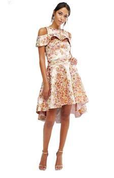 Žakárová sukně s prodlouženým zadním dílem CHI CHI LONDON náhled