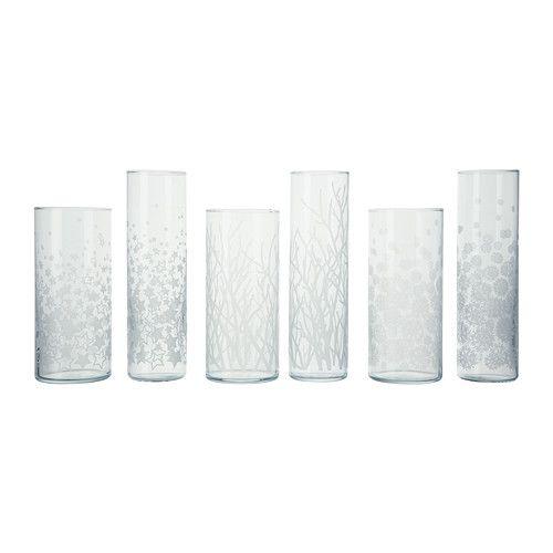CYLINDER Vase, lot de 2, motifs divers € 9,99  Référence de l'article :002.091.32